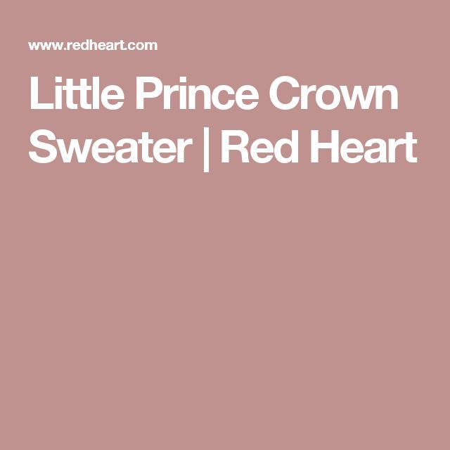 Little Prince Crown Sweater | Red Heart