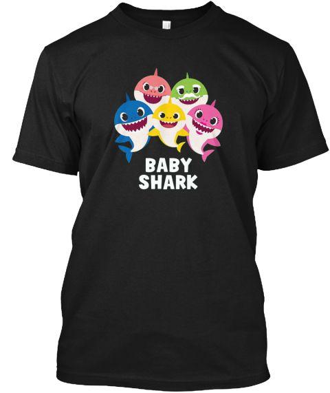278c1ac7 Pinkfong Baby Shark Family T Shirt Black T-Shirt Front | Baby Shark ...