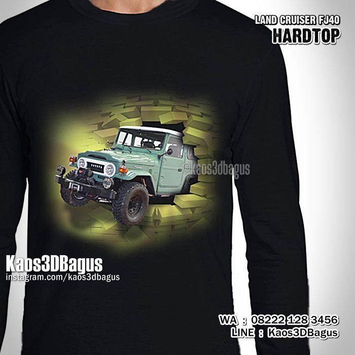 Kaos TOYOTA HARDTOP, Kaos3D, Toyota Land Cruiser FJ40, Kaos Klub Hardtop Indonesia, Kaos MOBIL HARDTOP, Offroad, 4x4, https://instagram.com/kaos3dbagus, WA : 08222 128 3456, LINE : Kaos3DBagus