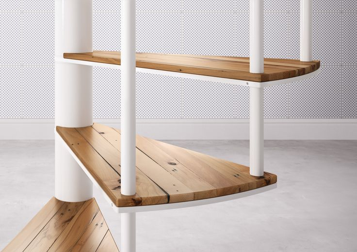 Fontanot | SLIM with wood Cover Spiral Staircase Step