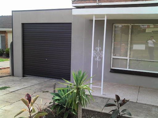 DMV carport designs with roller door and wall plastering Adelaide SA