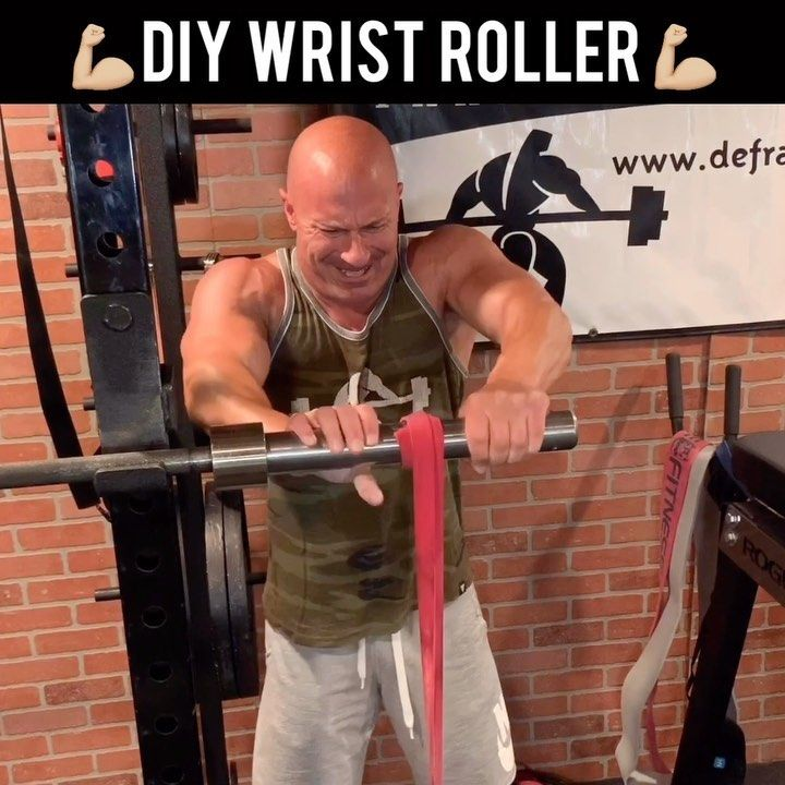 2 931 Likes 104 Comments Joe Defranco Defrancosgym On Instagram Build Huge Forearms Diy Wrist Roller This Was O In 2020 Exercise Workout Videos Roller