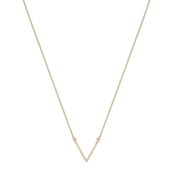 Delicate V necklace goud #ohsohip