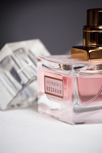 Intimately Beckham; feminine, classy perfume with a strong scent of white floral and roses. Wearing for prom!