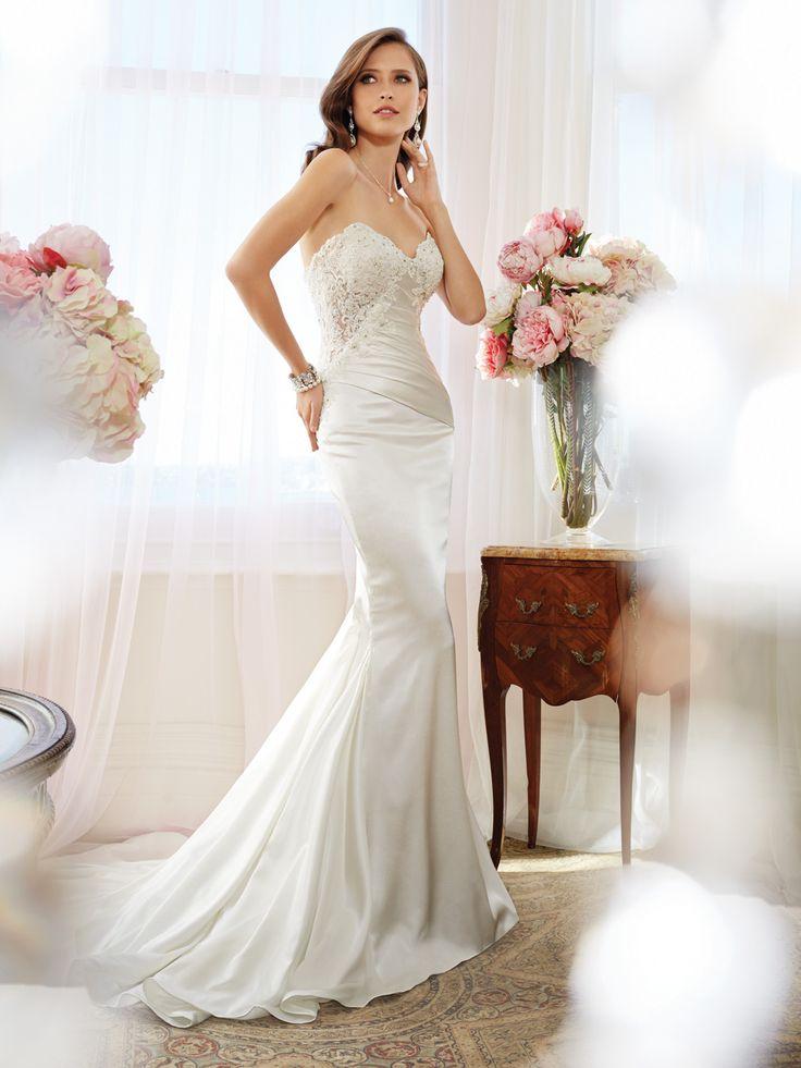 75 Best Fitted Wedding Dresses Satin Taffeta Dupioni