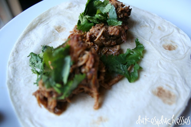 Sweet and Spicy {Crockpot} Pork Tacos