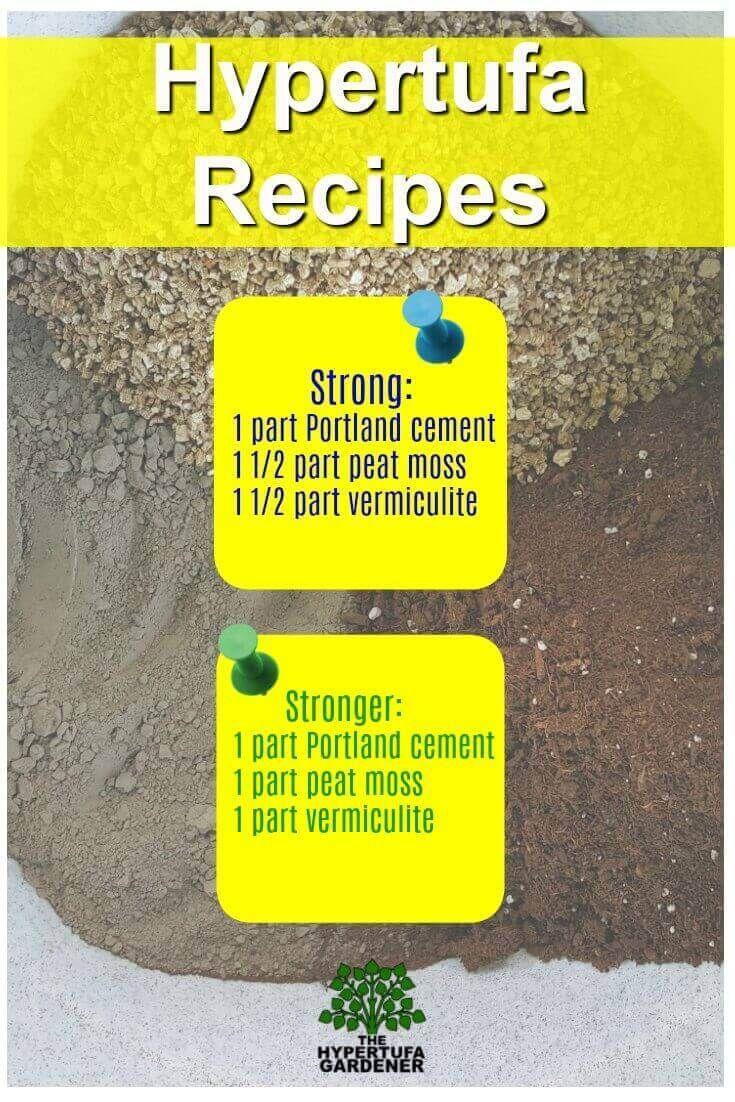 Hypertufa Recipes from The Hypertufa Gardener. More info on the website. Videos too!