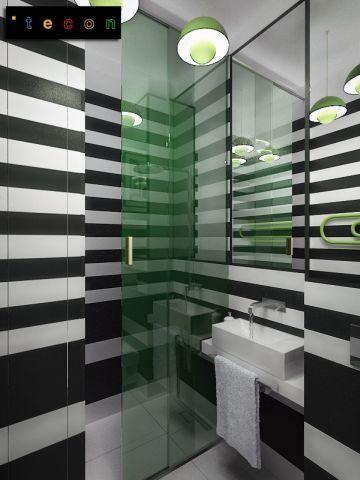 Mała łazienka z prysznicem, proj. TECON