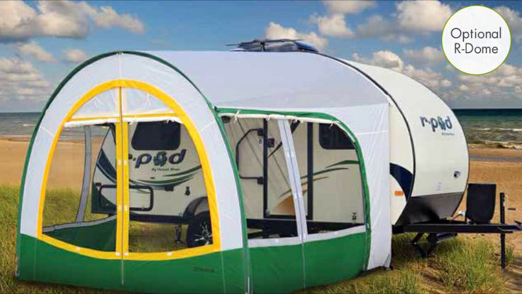 rpod screen room | Pod camper, Hybrid travel trailers, R pod