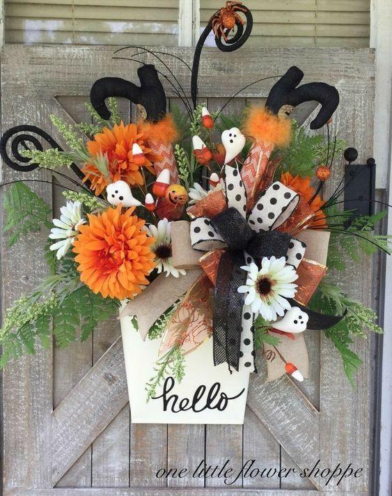 Halloween Wreaths for Front Door in 2020 Halloween