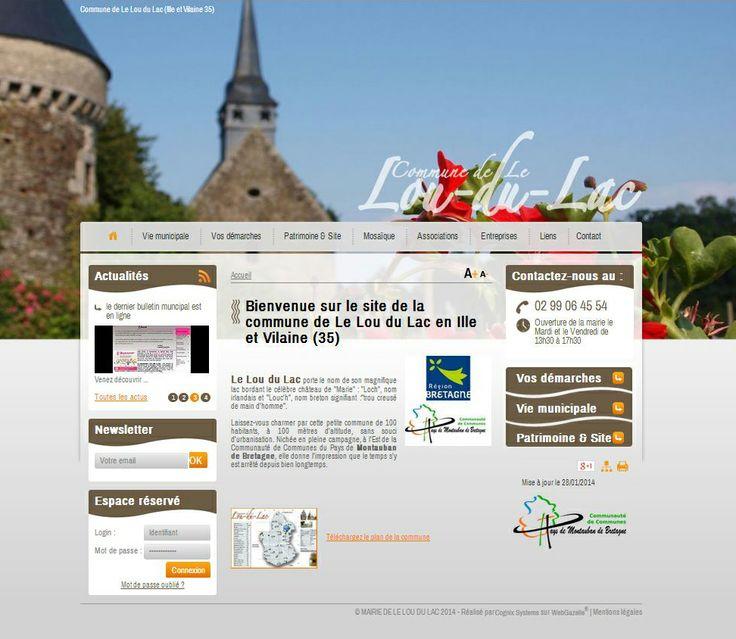 Site internet de la mairie de Le Lou du Lac en Ille et Vilaine, commune faisant partie de la Communauté de Communes de Montauban-de-Bretagne / Saint-Méen-le-Grand