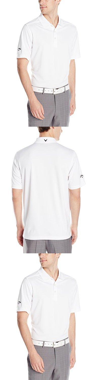 Callaway Men's Golf Micro Pique Short Sleeve Polo Shirt, White, X-Large