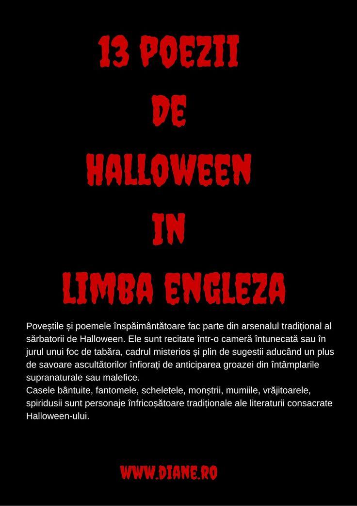 Poezii de Halloween in limba engleza. Halloween Poetry.   diane.ro