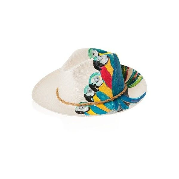 IBO-MARACA Parrots of the Caribbean Hat (280 CAD) ❤ liked on Polyvore featuring accessories, hats, fedora panama hat, band hats, fedora hat and panama hat