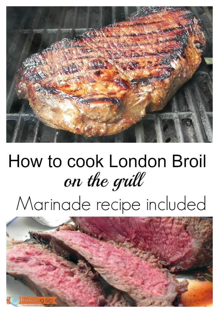 Grilled marinated London Broil #BBQWeekf