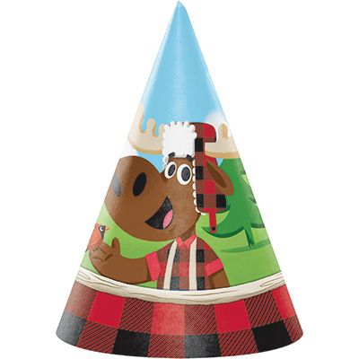 Canadian Lumberjack Party Hats - 8pk Party Supplies Canada - Open A Party
