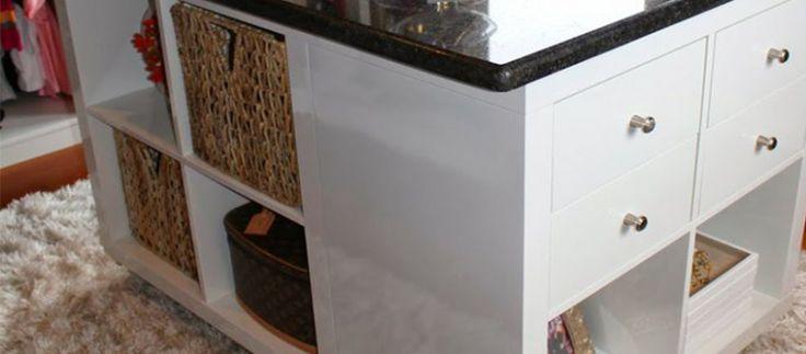 Créer un îlot de dressing ou de cuisine avec des étagères KALLAX
