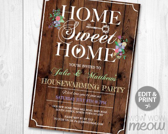 25 best Housewarming Invitation images on Pinterest Housewarming - best of invitation letter format for housewarming