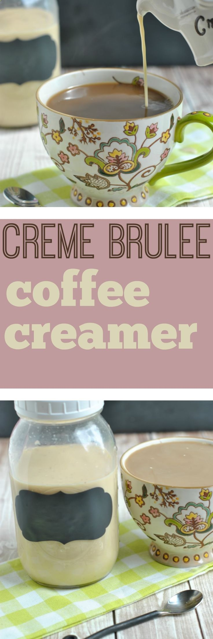 Another delicious homemade coffee creamer for you all to enjoy. The rich taste of Creme Brulee in this homemade coffee creamer is perfect paired with any fall dessert.