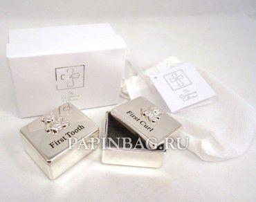 """Подарочный набор """"Коробочки для первого зубика и локона"""" (мишки), Великобритания"""
