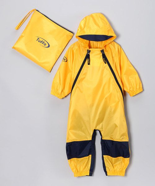 This Yellow Muddy Buddy Waterproof Coveralls - Infant, Toddler & Kids by Tuffo is perfect! #zulilyfinds