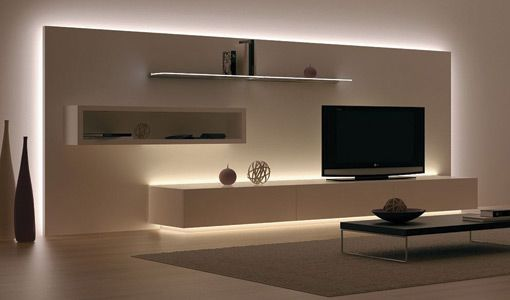 Häfele's Loox 12V LED Flexible Strip Lighting works well for background lighting for furniture or furnishings, small or unusual size spaces, and retrofitting existing furniture.