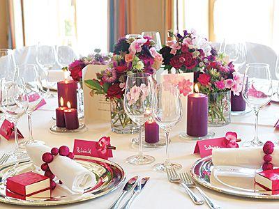 Ideen Fur Hochzeitsdeko Elegante Hochzeitsdeko In Beerentonen