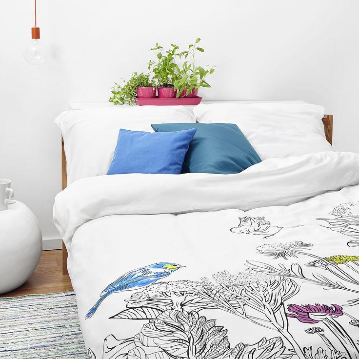 Colorbook bedding -White pocket