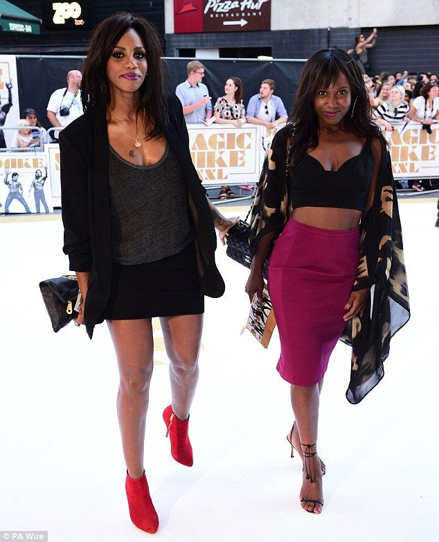 Blast from the past: All Saints star Shaznay Lewis (L) was joined by former pop singer Mic...