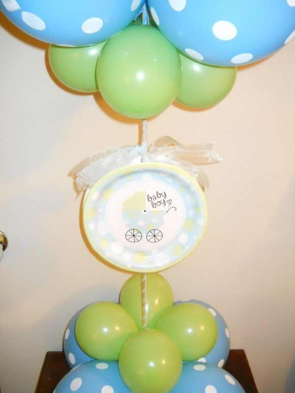 9 best Baby shower balloon centerpieces ideas images on