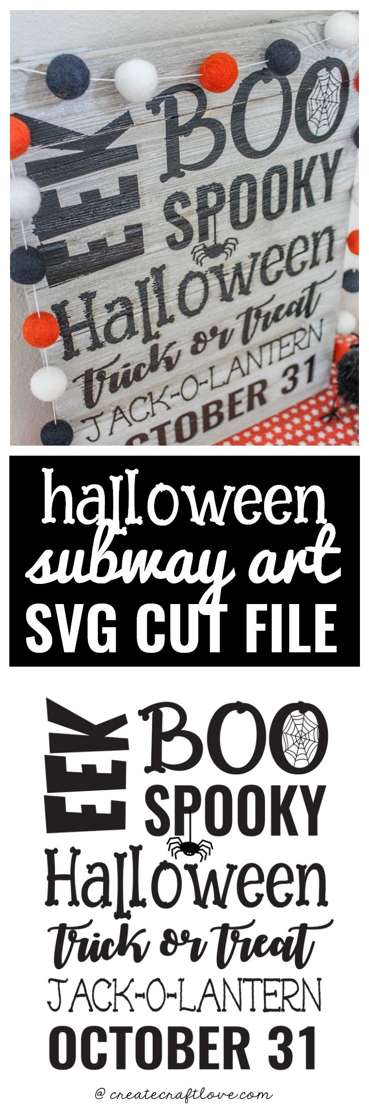 Grab this SVG file to create your own Halloween Subway Art!