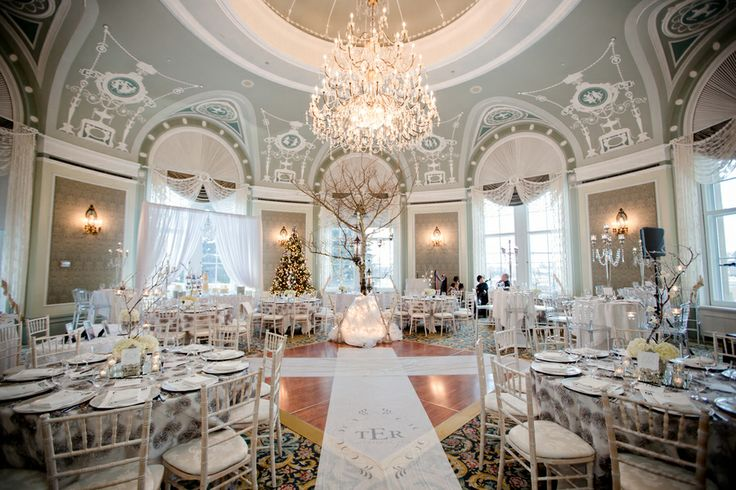 A gorgeous vintage theme winter wedding - full of inspiration, including this dual ceremony/reception area!