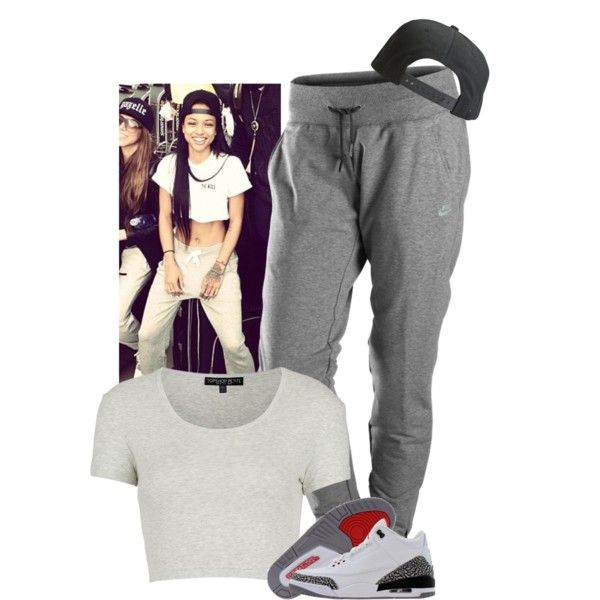 I think I have a girl crush on Kae. by dash-of-thug on Polyvore featuring Topshop, NIKE and Tavik Swimwear