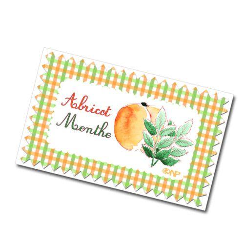 étiquette confiture menthe abricot à imprimer gratuitemen