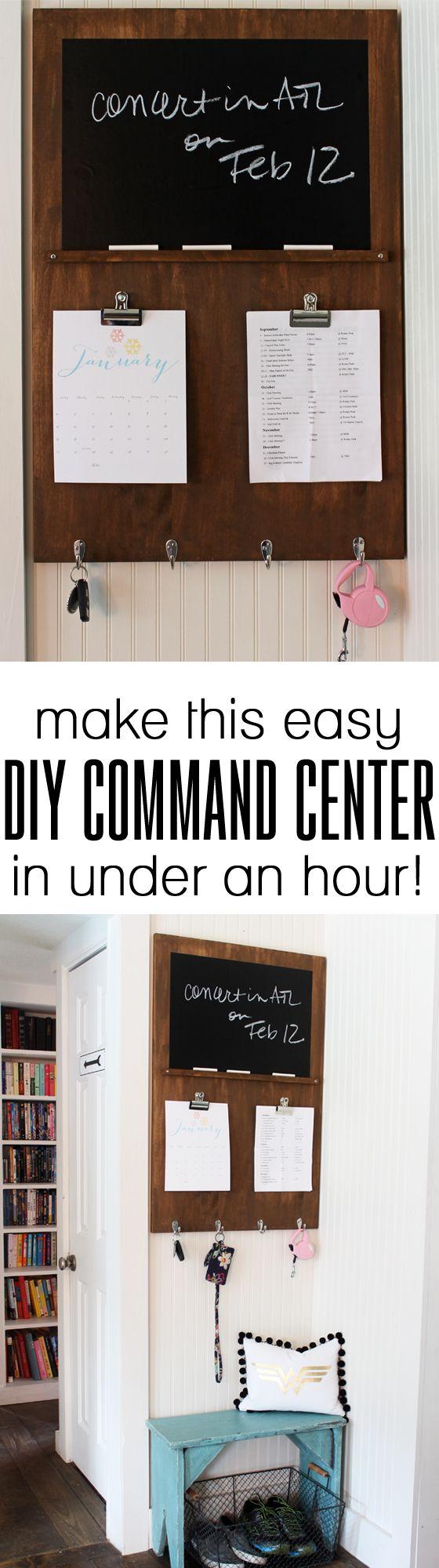 Quick Build DIY Command Center