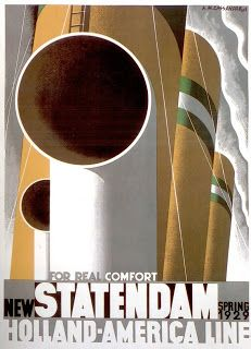 Statendam - Holland-Amercia Line - Les affiches d'Oncle Archibald: 1928