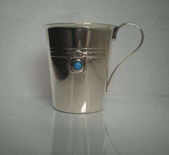 Sterling Silver 925 Baby Cup GOLD plated inside  by SilverArtGifts