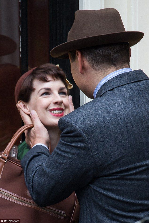 Eyebrows                                                                         Up close: The pair prepare to shoot a romantic sequence for the series, due to air next year on the BBC