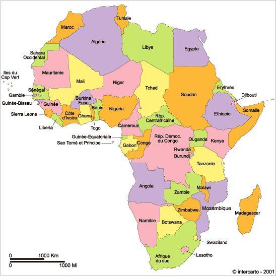 Pays d'Afrique et généralités (noms, capitales, devises, hymnes, régions insulaires environnantes, chefs d'Etat, généralités)