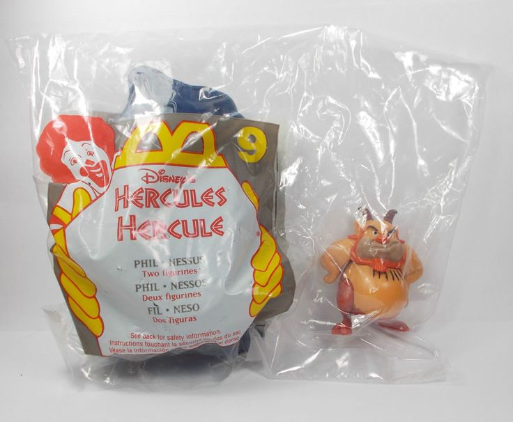 Hercules - Phil & Nessus - Action Toy Figure - Cake Topper - Disney
