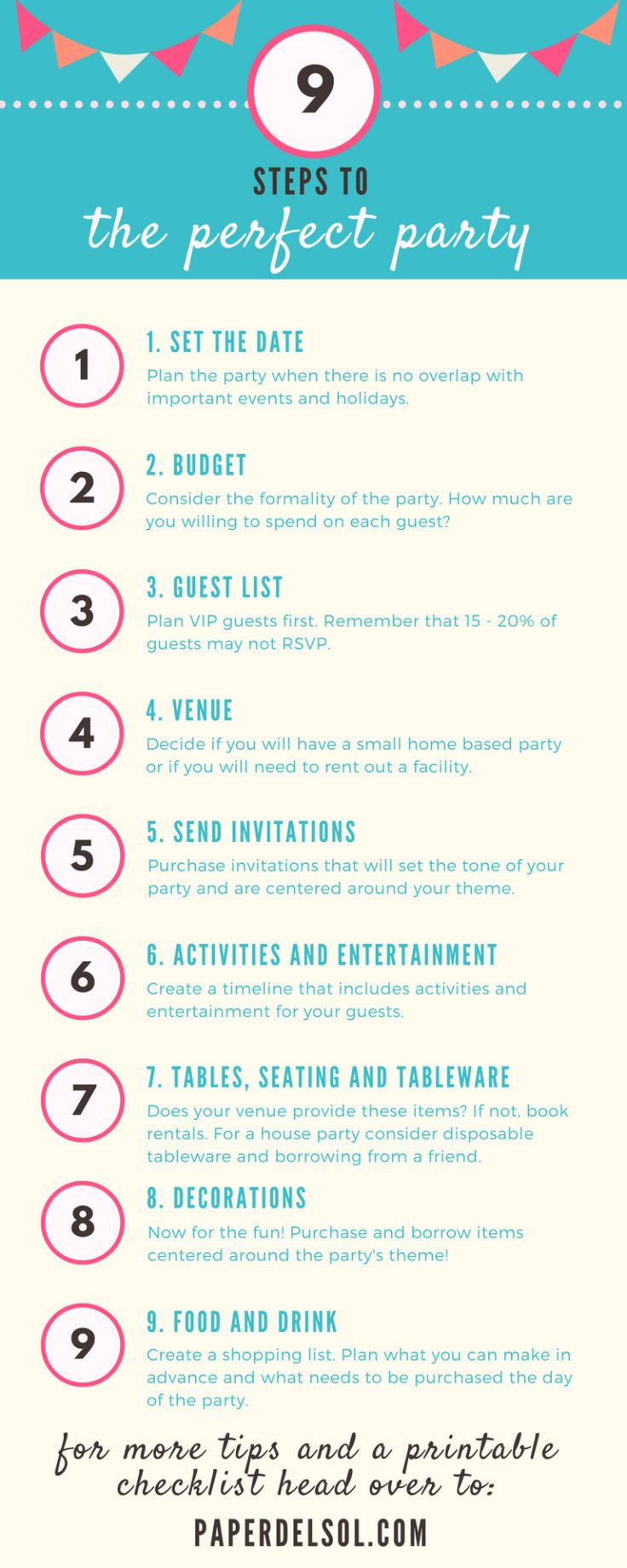 9 Steps to Planning the Perfect Party Party planning