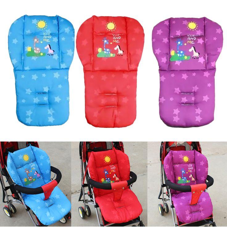 Baby Stroller Cushion Giraffe Child Cart Seat Cushion Pushchair Cotton Thick Car Seat High Chair Mat Purple Red Blue
