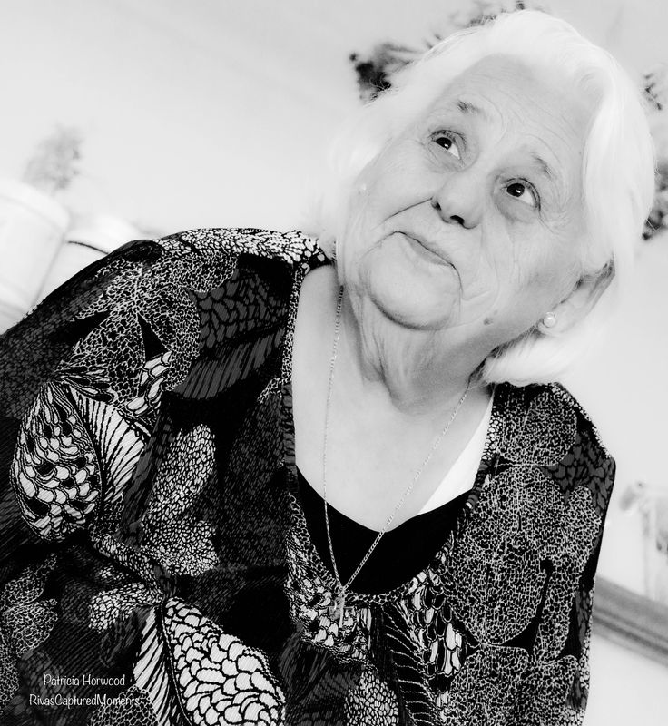 I absolutely love this photo of my grandmother she is one strong woman who has faced many things in her lifetime thats refined her into the most beautiful woman I knowl - A grandma is someone who is always happy to see you and brings plenty of hugs and kisses to share. She'll brighten up you day,  even on the stormiest night. Photography by Patricia Horwood