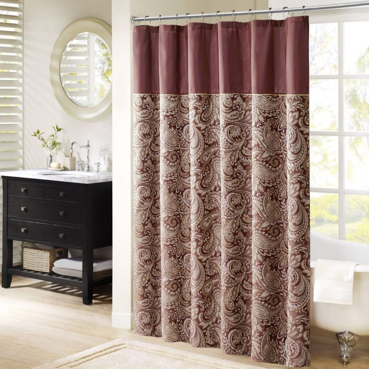Sage Green And Pink Shower Curtain