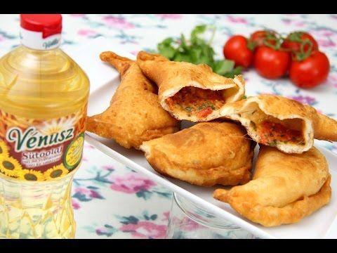 Töltött lángos (Panzerotti) recept - YouTube