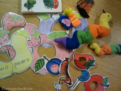 retell literacy center activity – The Very Hungry Caterpillar