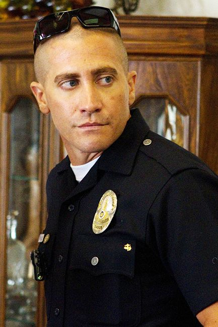 "JAKE GYLLENHAAL IN END OF WATCH Jake Gyllenhaal in End of Watch was a double whammy for us because there's nothing better than a man in uniform and a bald head, and Jarhead definitely left us wanting more. Even Matt Damon loves Jake Gyllenhaal's cue-top. ""Wow, I try not to envy, but I have to say Jake's got a damn good-looking head,"" Damon said. ""Gyllenhaal definitely gets the blue ribbon for the best bald head over me."""