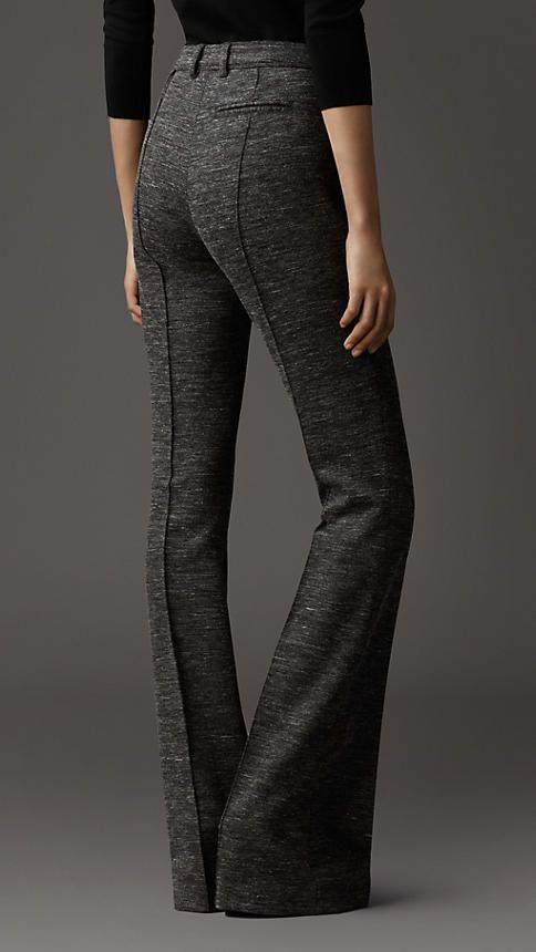 melange wool trouser | Burberry