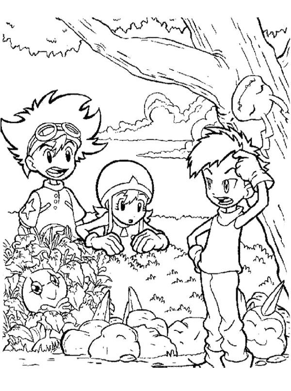 tanemon coloring pages - photo #25