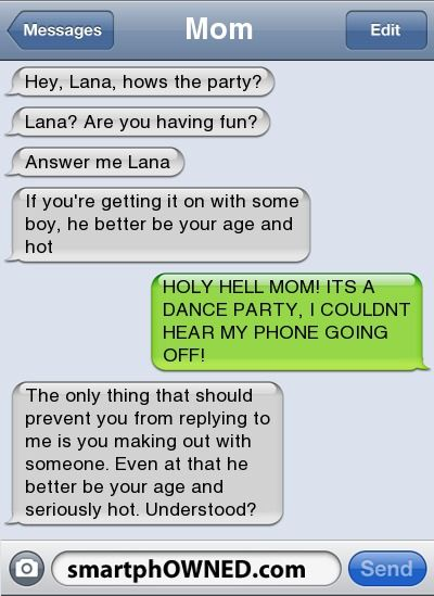 holy hell, mom! - Awkward Parents - Sep 15, 2011 - Autocorrect Fails and Funny Text Messages - SmartphOWNED